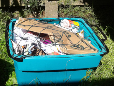 Full recycling box with net
